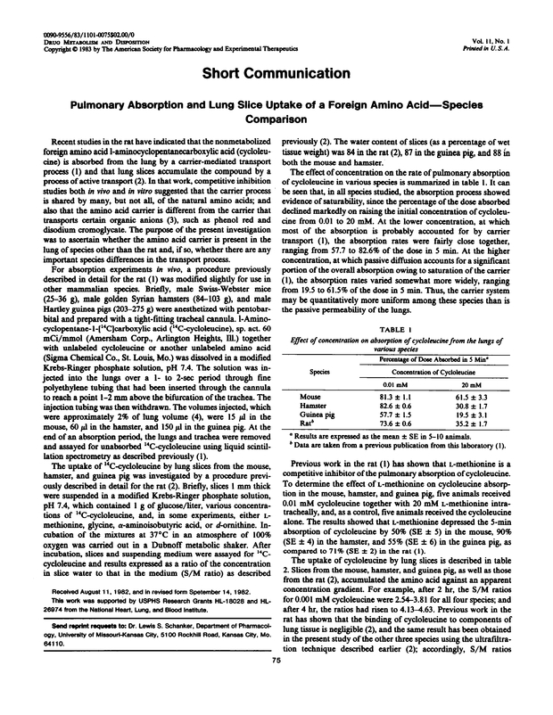 Pulmonary absorption and lung slice uptake of a foreign amino acid pdf extract preview fandeluxe Images