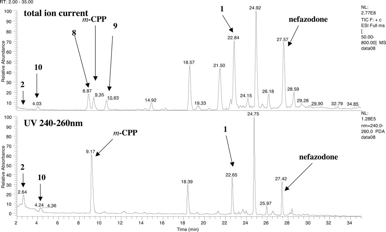 total ion chromatogramm